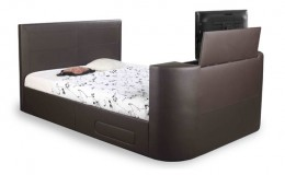 Body Impressions Sophia 4FT6 Double Faux Leather TV Bed